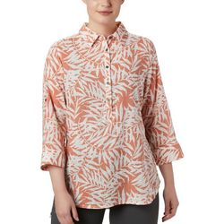 Columbia Womens Summer Ease Leaf Print Tunic Shirt