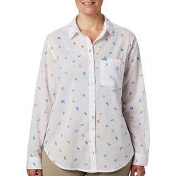 Columbia Womens PFG Sun Drifter II Tossed Elements Shirt