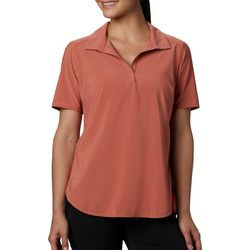 Columbia Womens Place To Place Solid Polo Shirt