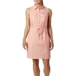 Columbia Womens Bonehead Dotted Sleeveless Dress
