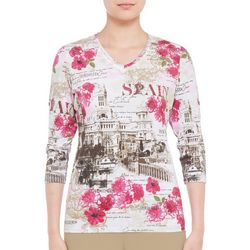 Alia Womens Spain Destination Top