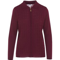 Alia Womens Textured Zip Up Jacket