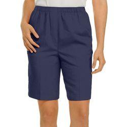 Alia Womens Microfiber Bermuda Shorts