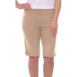Alia Womens Tech Stretch Bermuda Shorts