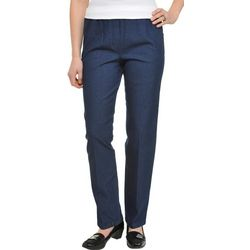 Alia Womens Chambray Pull On Pants