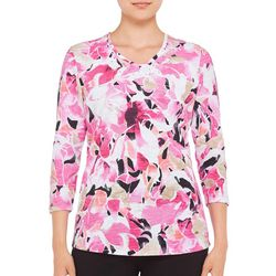 Alia Womens Embellished Floral Petal Top