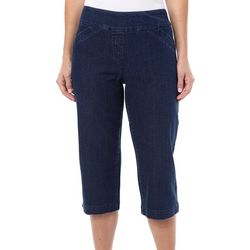 Alia Womens Diamond Denim Capris