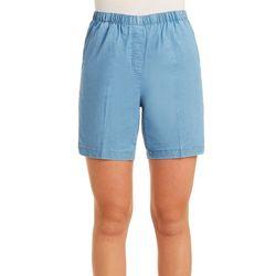 Alia Womens Denim Pull On Shorts