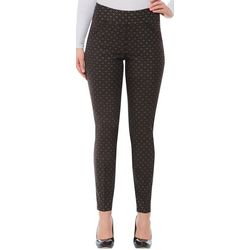 Alia Womens Geometric Slim Fit Pull On Pants