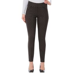 Alia Womens Geometric Slim Fit Pull On Pants