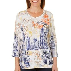 Alia Womens Floral London Top