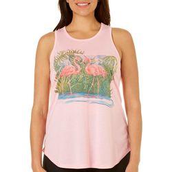 Amber Moran Womens Retro Flamingo Tank Top