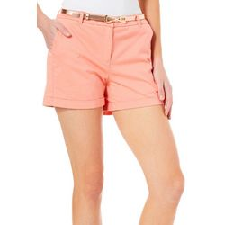 Juniper + Lime Womens Chloe Belted Shorts