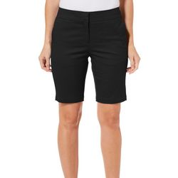 Juniper + Lime Womens Solid Bermuda Shorts