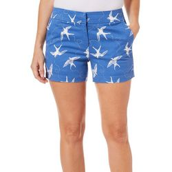 Juniper + Lime Womens Beth Bird Print Shorts