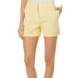 Juniper + Lime Womens Beth Medallion Print Shorts