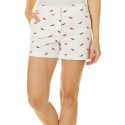 Juniper + Lime Womens Beth Pepper Print Shorts