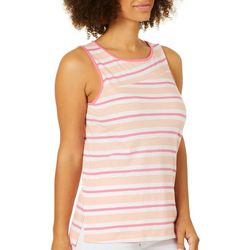 Juniper + Lime Womens Mixed Stripes Sleeveless Top