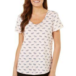 Juniper + Lime Womens Zebra T-Shirt