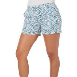 Juniper + Lime Womens Beth Floral Tile Shorts