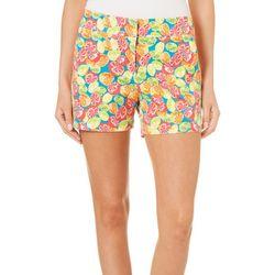 Juniper + Lime Womens Beth Fruit Print Shorts