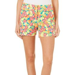 Juniper + Lime Womens Beth Fruit Print Shorts