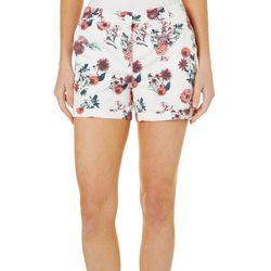 Juniper+ Lime Womens Chloe Floral Print Shorts