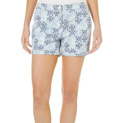 Juniper + Lime Womens Chloe Mosaic Tile Print Shorts