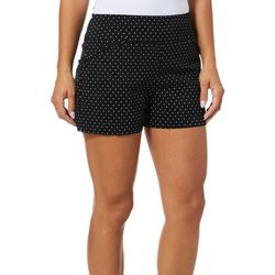 Juniper + Lime Womens Polka Dot Ruffle Pocket Pull On Shorts