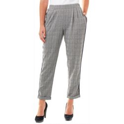 NY Collection Womens Plaid Pull On Soft Pant