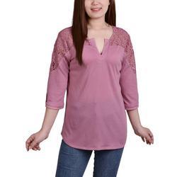 Womens Lace Shoulder Top