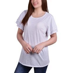 Womens Embellished Sleeve Top