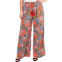NY Collection Womens Tassel Tie Palazzo Pants