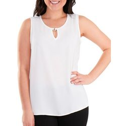 NY Collection Womens Keyhole Tank with Hardware Tr