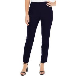 NY Collection Womens Split Waist Slim Flit Pants
