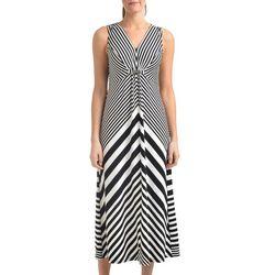 NY Collection Womens Diagonal Stripe Maxi Dress