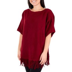 NY Collection Womens Lurex Dolman Sleeve Sweater