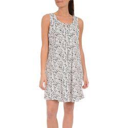 NY Collection Womens Dot Print Shift Dress