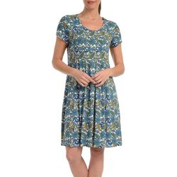 NY Collection Womens Paisly Fit & Flare Dress