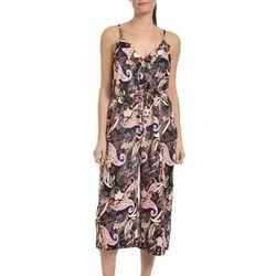 NY Collection Womens Sleeveless Capri Jumpsuit