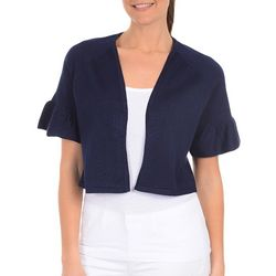 NY Collection Womens Short Bell Sleeve Shrug