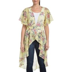 NY Collection Womens FLoaral Chiffon Blouse