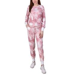 NY Collection Womens Tie Dye Jogger Set