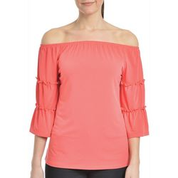 NY Collection Womens 3/4 Bell Sleeve Top