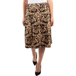 NY Collection Womens A-Line Elastic Waistband Skirt