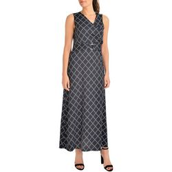 NY Collection Womens Geometric Maxi Dress