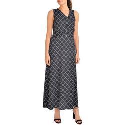 Womens Geometric Maxi Dress