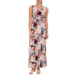 NY Collection Womens Multi-Print Maxi Dress