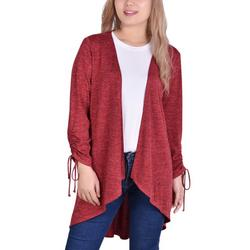 Womens Ruched Sleeve Cardigan