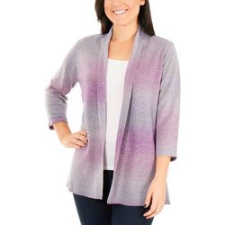 NY Collection Womens Ombre Open Front Cardigan